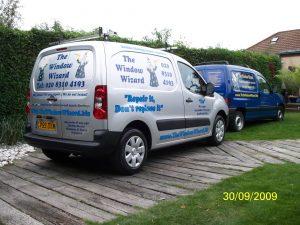 Van change for The Window Wizard from Blue van to a silver Van