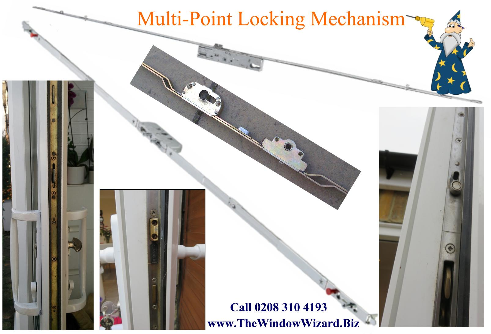 UPVC Door Multi Point Locking Mechanism supplied and fitted