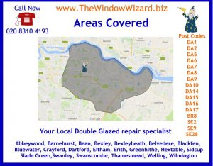 Map of area covered By The Window Wizard Bexleyheath