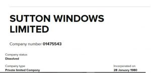 Sutton Windows parts supplied and fitted by The Window Wizard