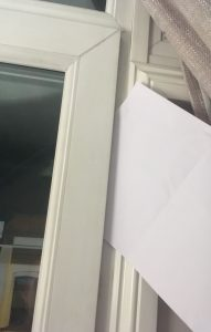 Gaps in windows how to test with paper
