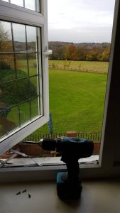 UPVC Double Glazing bent window hinges