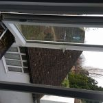 Fire escape upvc window hinges