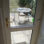 UPVC Door glass sealed unit before picture