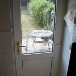 UPVC Door reinforced panel with cat flap fitted after picture