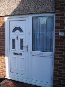 Double Glazing Repairs UPVC Front Door Silver Chrome Handles Letterbox Knocker Bexleyheath