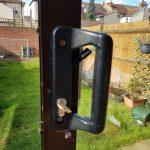 Black plastic patio door handle Eltham