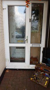Before and After photos of broken door hinges Bexleyheath