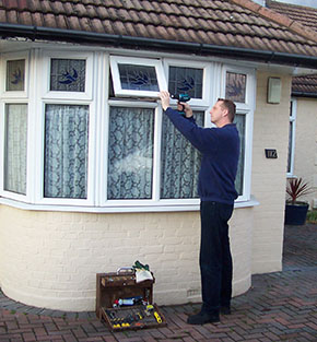 UPVC double glazing window locking mechanism repair