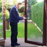UPVC Double Glazing White Locking Window Handle and Key Barnehurst