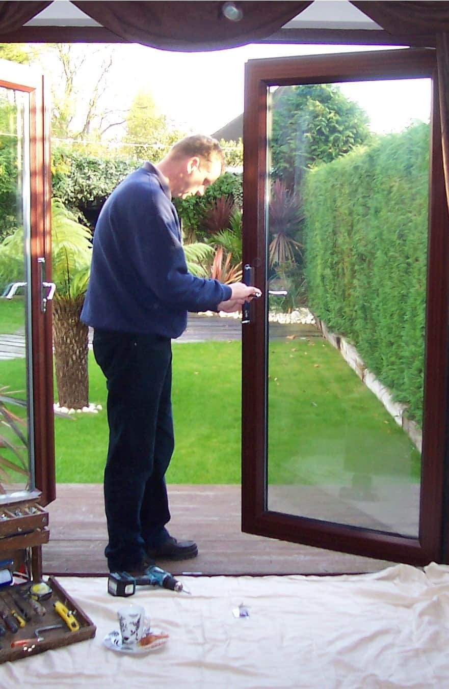 UPVC French Door repair and adjusted