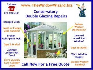 Conservatory Double Glazing Repairs and Specialist in Conservatory Door Repair