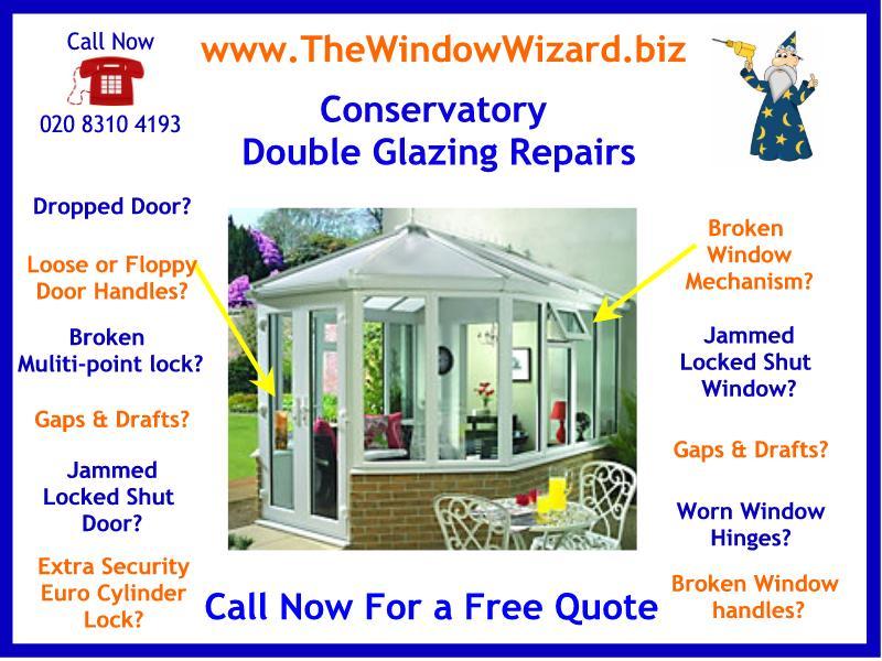 Conservatory Door Repair & Specialist in Conservatory Double Glazing Repairs