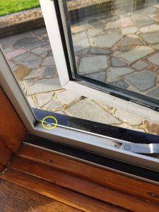 Double Glazing Gaps Leaks Drafts Rain water escape slot Aluminum window frame Swanley, Dartford, Bexlyheath