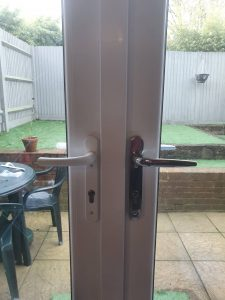 Double Glazing upgrades of chrome handles to french doors