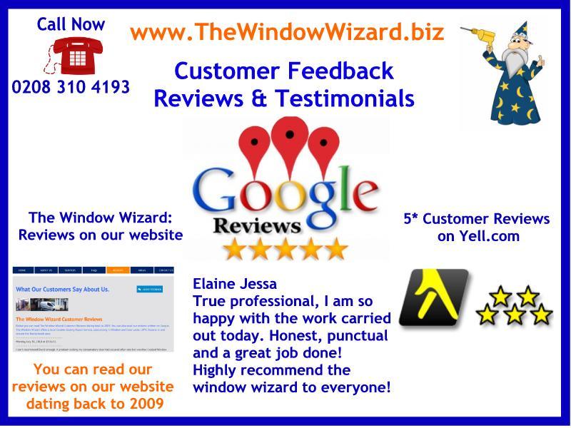 The Window Wizard Customer Reviews, Double glazing door repair service including UPVC door lock broken & repairs