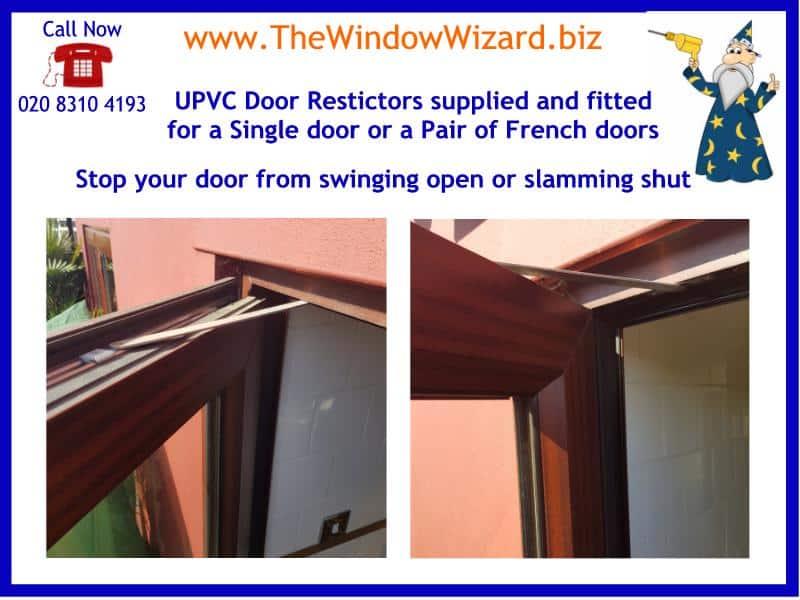 Door restrictors fitted to UPVC Double Glazed doors