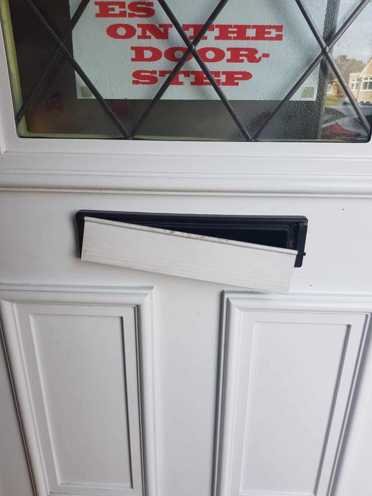UPVC letter box broken